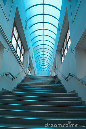 Blue staircase vertical