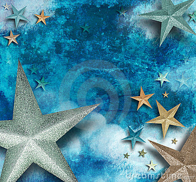 Blue Star Art Holiday Background