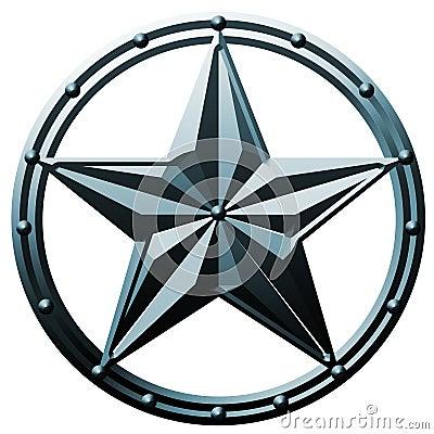 Free Blue Star Logo Metal Royalty Free Stock Image - 17860606