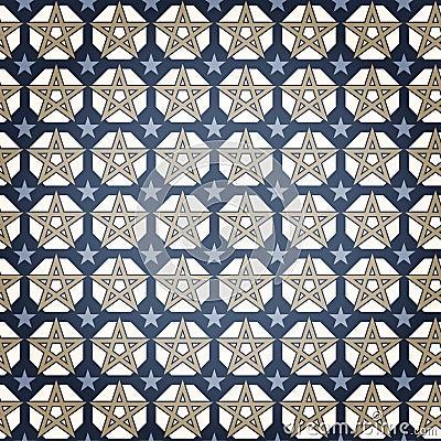 Free Blue Star Seamless Pattern Stock Photography - 19651012