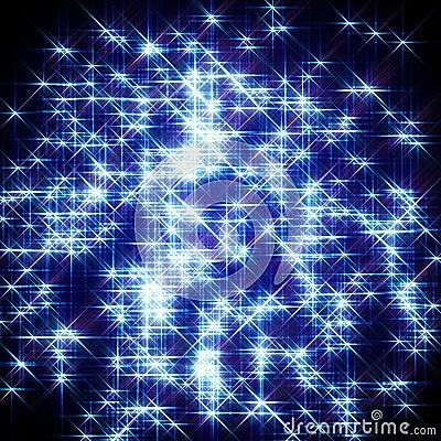 Blue starlight background