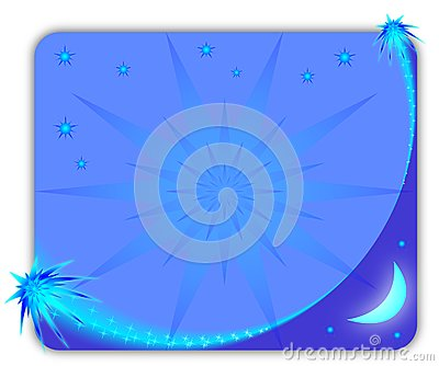 Blue starry picture frame