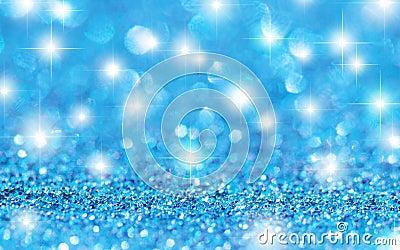 Cyan Stars Background