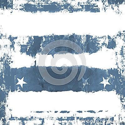 Blue Stars Grunge