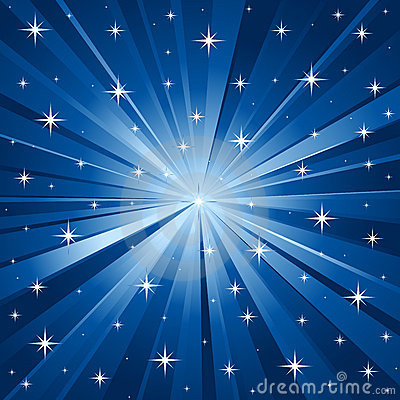 Free Blue Stars Vector Background Stock Images - 6716694