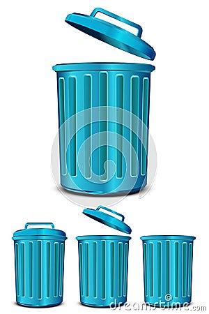 Blue steel garbage