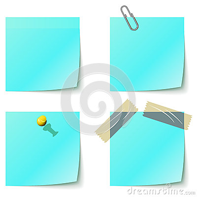 Blue sticky notice papers