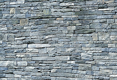 Blue Stone Schist Wall Royalty Free Stock Image Image