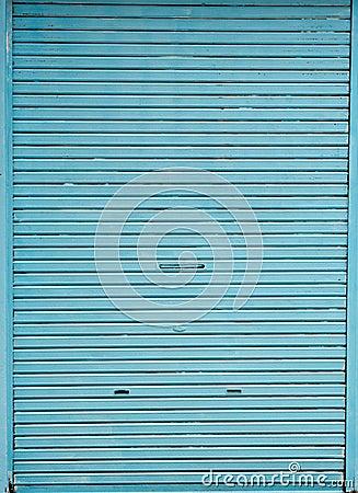 Blue store door