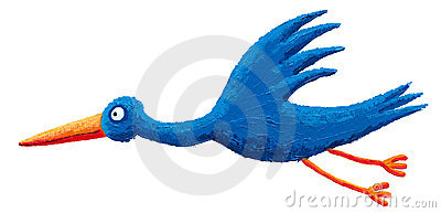 Blue stork fly