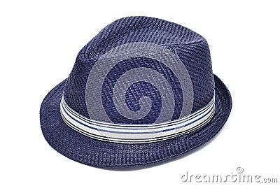 Blue straw hat