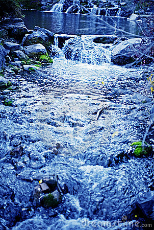 Free Blue Stream Stock Photography - 3398482