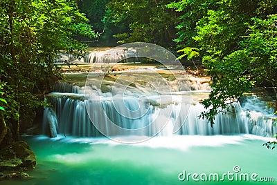 Blue stream waterfall