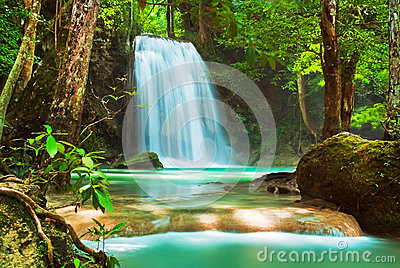 Blue stream waterfall