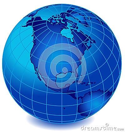 Free Blue Stripe World Globe 2 Stock Photos - 2581153