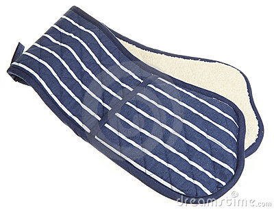 Blue Striped Double Oven Glove
