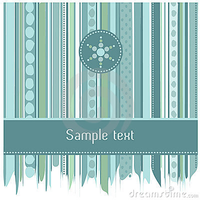 Blue stripes and circles card design
