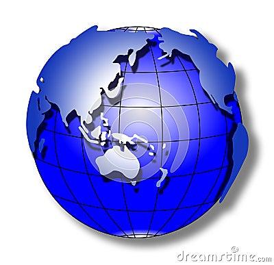 Blue stroke world