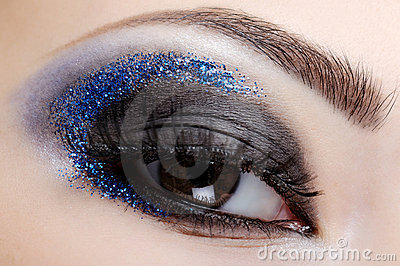 Blue style fashion make-up
