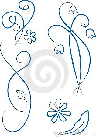 Blue style ornament