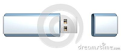 Blue stylish USB flash drive memory