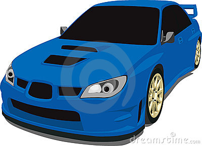 Blue Subaru Rally Car