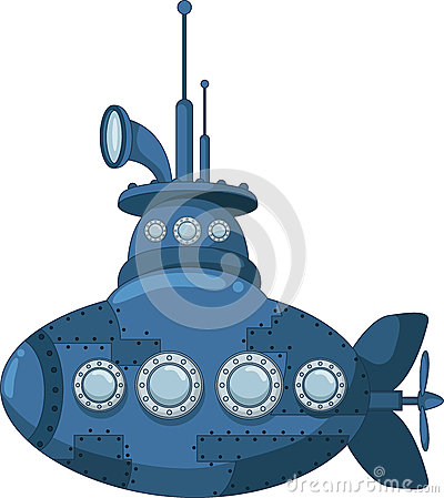 Blue submarine for you design