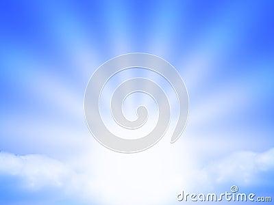 Blue sunbeam