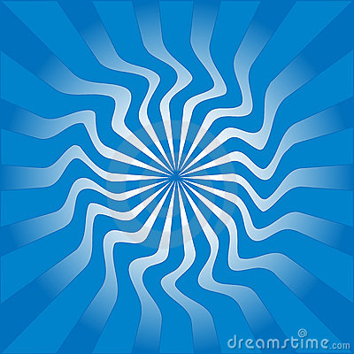 Blue sunburst vector illustration