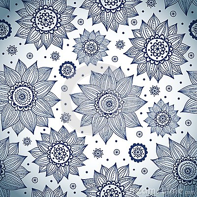 Free Blue Sunflower Pattern Stock Photo - 29078940