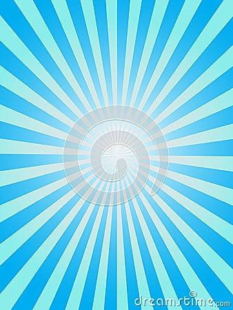Blue sunray background