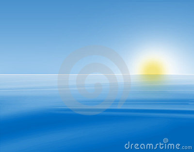 Blue sunrise seascape