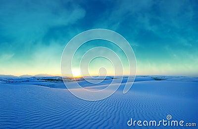 Blue Sunset over White Sands