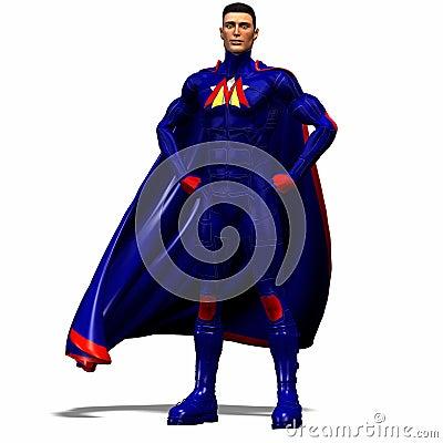 Free Blue Super Hero 2 Royalty Free Stock Photo - 2456365