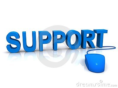 Blue support and mouse