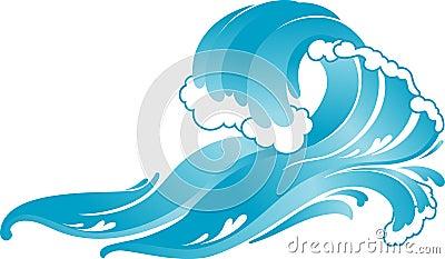 Blue Surfer Crashing  Wave