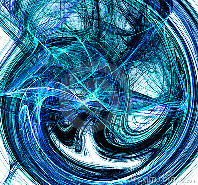 Blue swirling Abstract