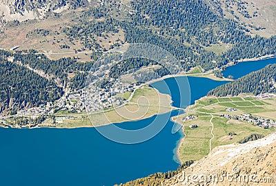 Blue Swiss Mountain Lake