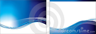Blue swoosh set of 2 backgrounds