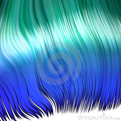Blue synthetic hair
