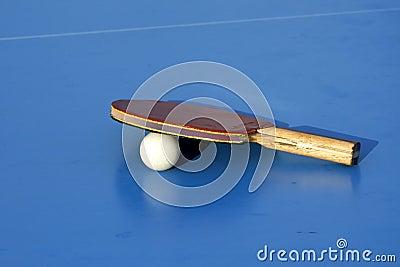 Blue table tennis