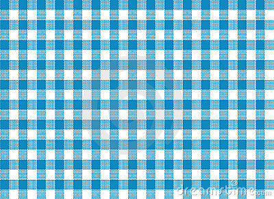 Blue Tablecloth Print