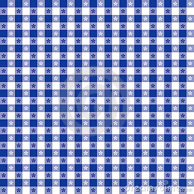 Blue Tablecloth Seamless Pattern