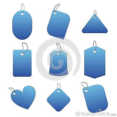 Blue tags