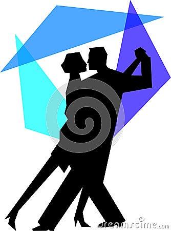 Blue Tango Dance Couple/eps