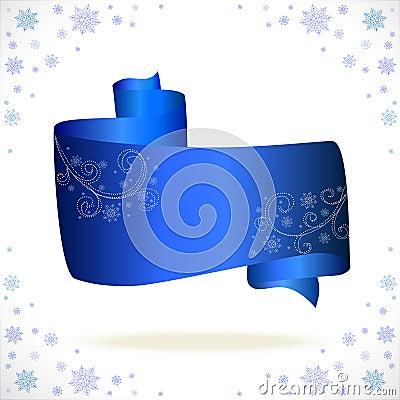 Blue tape cristmas on white background