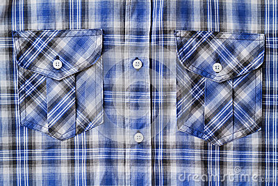 Blue Tartan Plaid Pocket