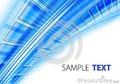 Blue techno background