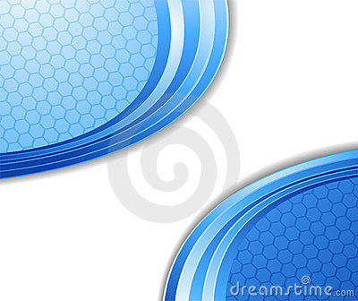 Blue technological cell background