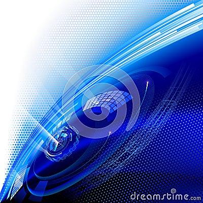 Blue technology background.